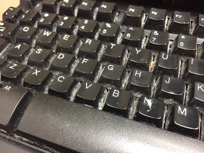 A dirty keyboard