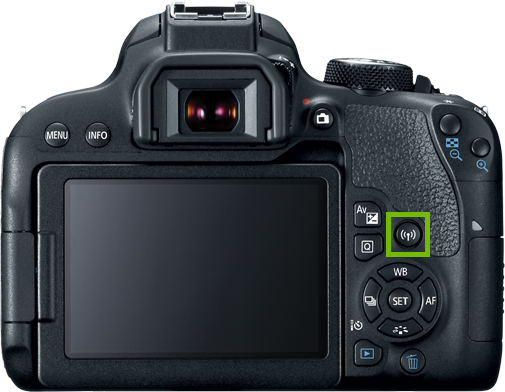 camera with Wi-Fi button highlighted
