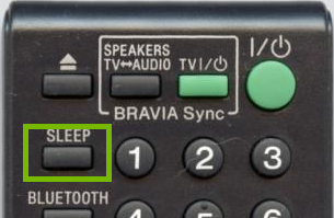 Sony BDVE3100 Remote Sleep Button