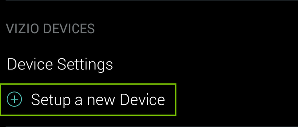 Set up new device option.