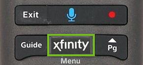 Xfinity button