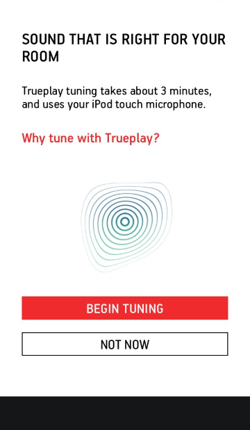 Trueplay tunning start screen