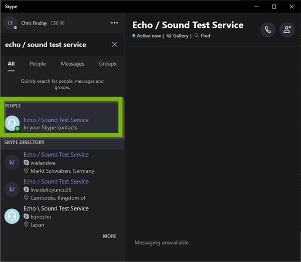 Echo / Sound Test Service