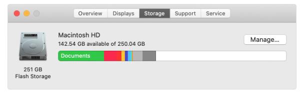 mac's storage