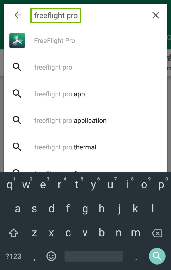 Keyword highlighted in Google Play search.