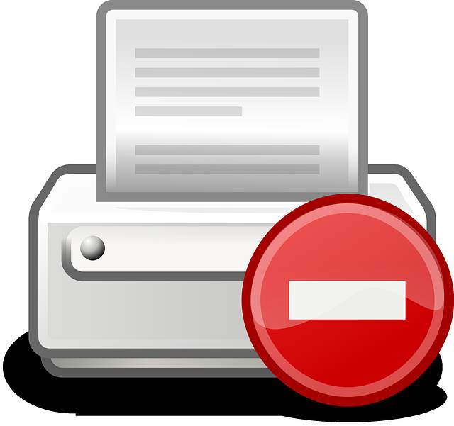 Image of a printer error icon.