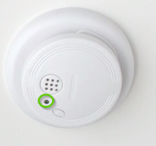A smoke detector with the power light off
