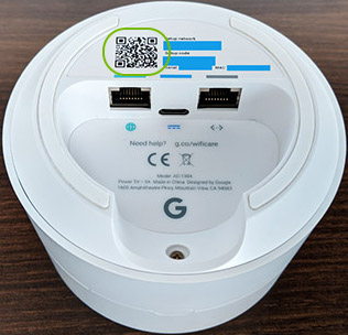google wifi point qr code