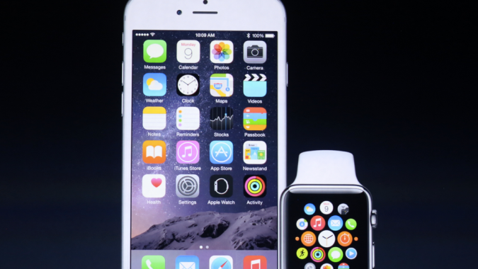 iPhone and Apple Watch together.