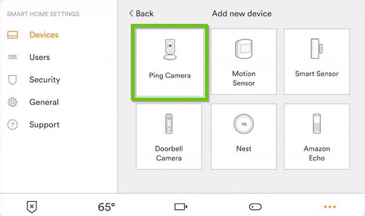 Add new device. Ping Gamera