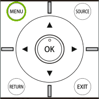 Element Remote with Menu highlighted. Illustration