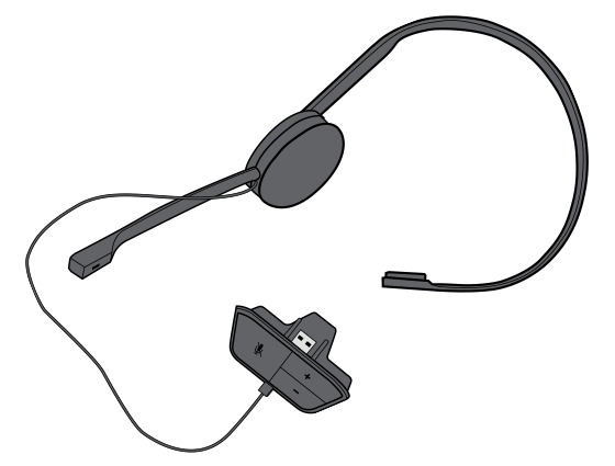Chat Headset with an expansion connector.