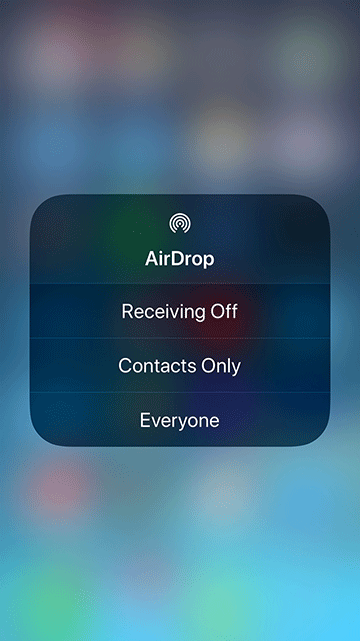 Airdrop options.