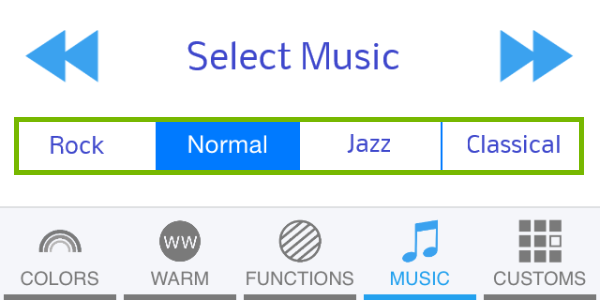 Genre bar highlighted