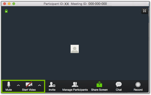 Zoom meeting video icons