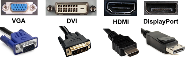 Video connector types.
