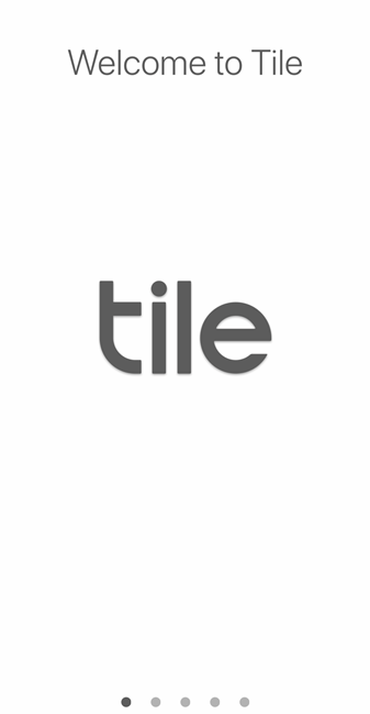 Tile welcome screen. Screenshot.
