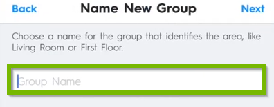 Name New Group field.