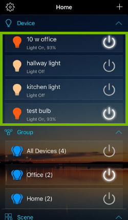 List of installed bulbs that can be managed