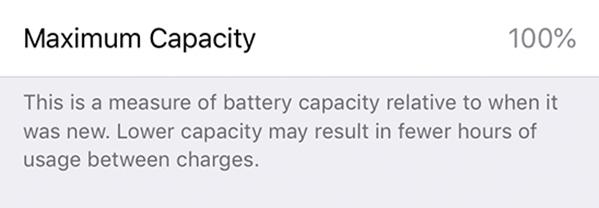 Battery health maximum capacity.