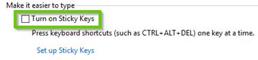 Windows 10 sticky keys toggle