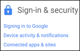 Google sign and security icon.
