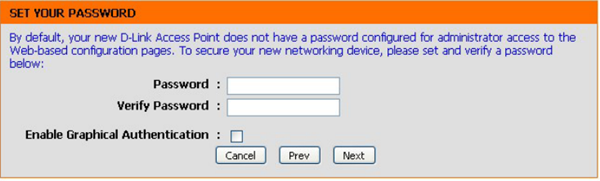 Setting a password