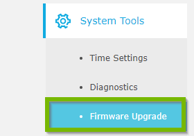 System Tools with Firmware Upgrade highlighted