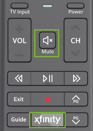 Xfinity and mute buttons