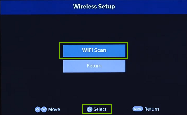 Wi-Fi Scan. Screenshot