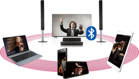 Music being streamed over Bluetooth to LG HTS.