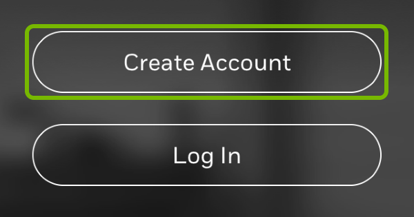 Create Account button highlighted in Honeywell Home app.