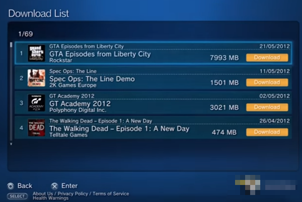 A list of downloadable games