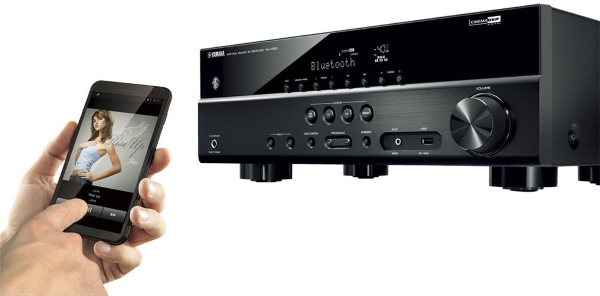 Playing music via bluetooth to AV receiver.