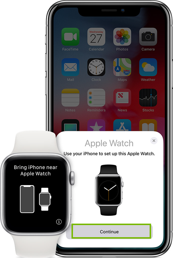 Apple Watch and iPhone asking to pair