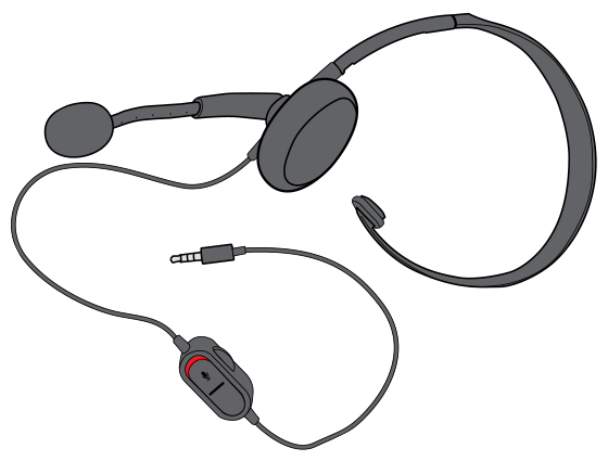 Chat Headset with a 3.5 mm audio connector.
