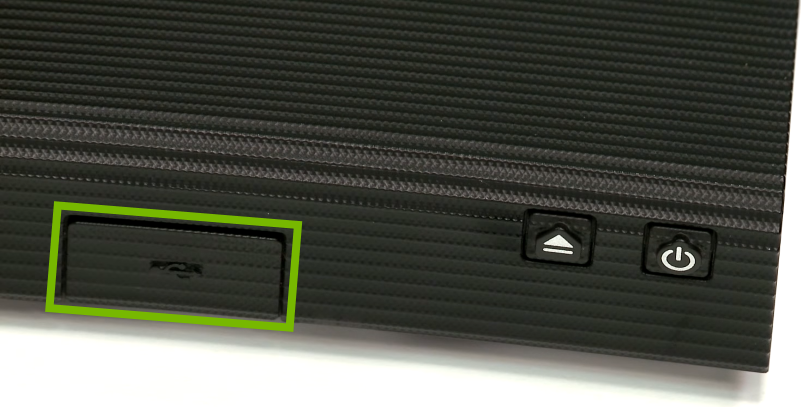 Blu-ray front panel with USB cover highlighted