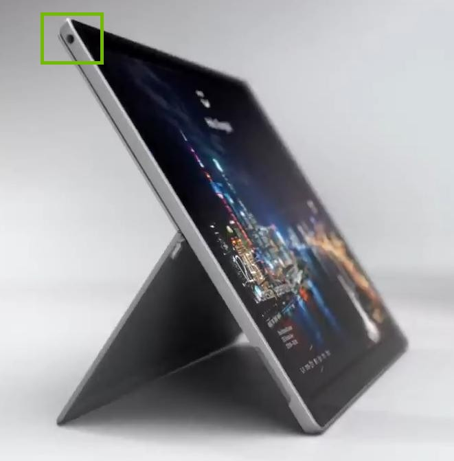 surface pro left edge, indicating audio mini-jack