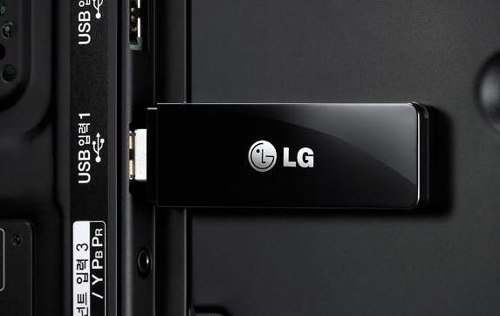 LG USB device in back of LG TV.