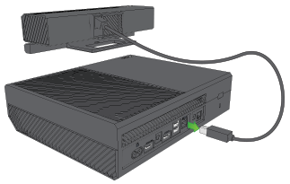 Kinect being unplugged from Xbox One.