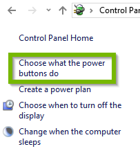 Choose what the power buttons do.
