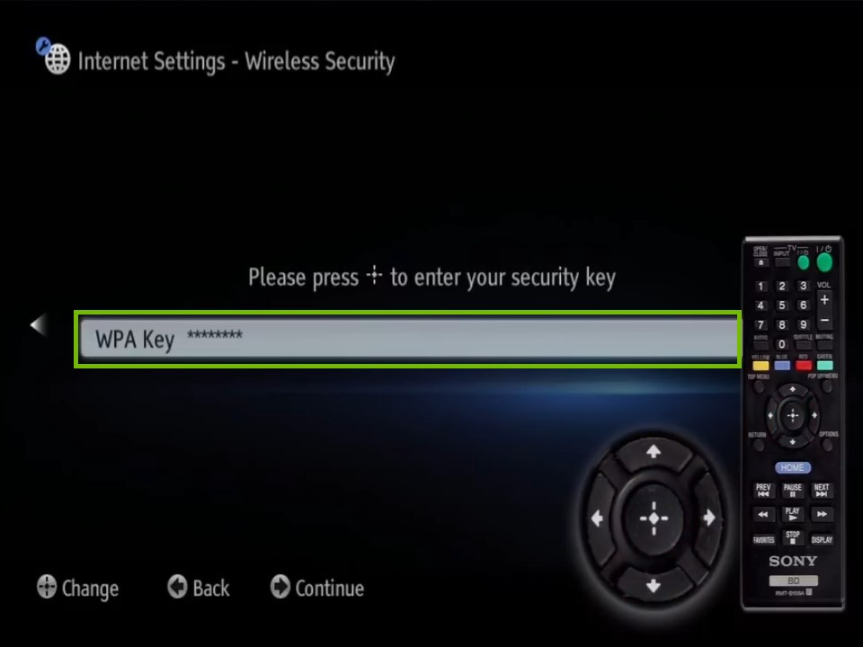 security key prompt with WPA key highlighted
