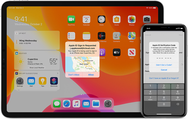 Apple devices with two factor authentication