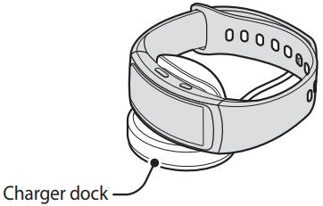 diagram of watch sitting on charger dock