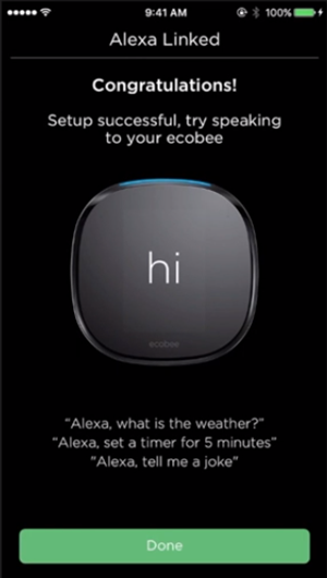 Ecobee4 Alexa success