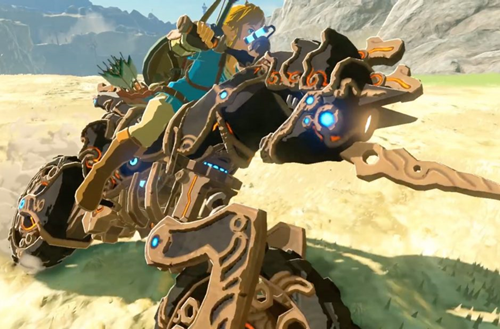 Link on the bike for Zelda DLC