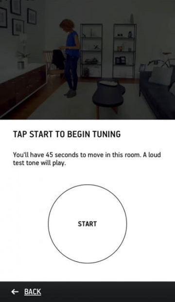 Tunning process demo and start screen