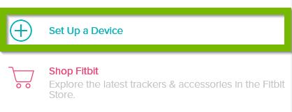 Set up Device button. Screenshot.