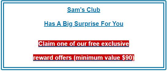Sam's club scam