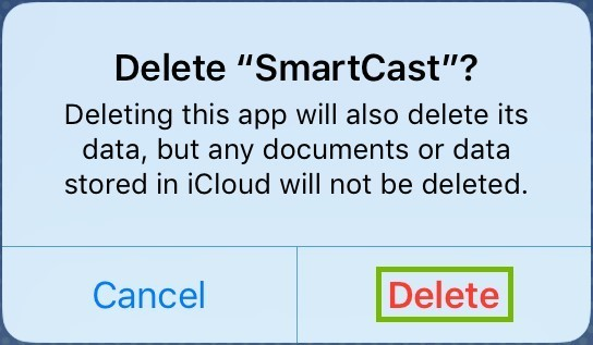 Confirm App removal.